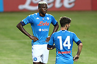Victor Osimhen of SSC Napoli and Dries Mertens <br /> during the friendly football match between SSC Napoli and L Aquila 1927 at stadio Patini in Castel di Sangro, Italy, August 28, 2020. <br /> Photo Cesare Purini / Insidefoto