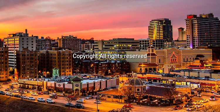The lights on the Kansas City Country Club Plaza shine brightly during the holiday season.