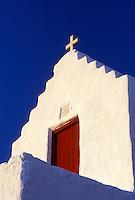 church, Mykonos, Greek Islands, Cyclades, Greece, Europe, Church on Mykonos.