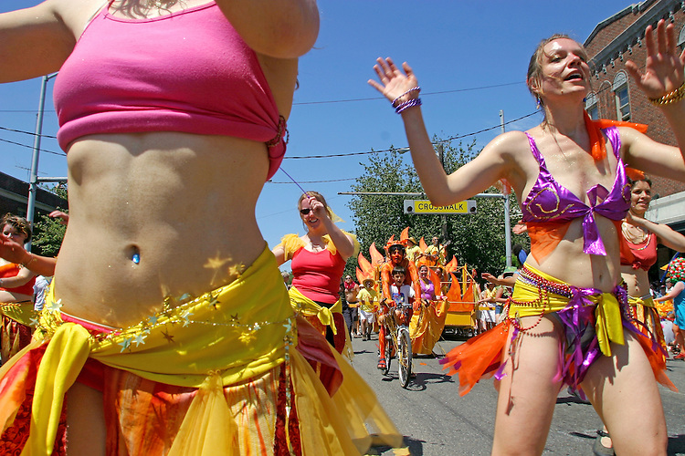 """Seattle, Fremont Solstice Parade, Fremont neighborhood has dubbed itself the """"Center of the Universe"""" Washington State, Pacific Northwest, USA,."""