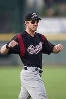 Sacramento River Cats outfielder Josh Reddick (26) warms up before the Pacific Coast League baseball game against the Round Rock Express on June 19, 2014 at the Dell Diamond in Round Rock, Texas. The Express defeated the River Cats 7-1. (Andrew Woolley/Four Seam Images)