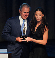 NEW YORK, NY - JUNE 18: Former President of the United States George W. Bush and daughter Barbara Bush attend the 2015 Father Of The Year Luncheon Awards at New York Hilton on June 18, 2015 in New York City.<br /> <br /> <br /> People:  George W. Bush, Barbara Bush
