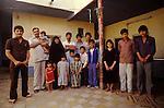 Marsh Arabs. Southern Iraq. Marsh Arab family living in Baghdad husband wife and fourteen children. 1984