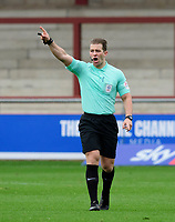 Referee Anthony Backhouse<br /> <br /> Photographer Chris Vaughan/CameraSport<br /> <br /> The EFL Sky Bet League One - Fleetwood Town v Lincoln City - Saturday 17th October 2020 - Highbury Stadium - Fleetwood<br /> <br /> World Copyright © 2020 CameraSport. All rights reserved. 43 Linden Ave. Countesthorpe. Leicester. England. LE8 5PG - Tel: +44 (0) 116 277 4147 - admin@camerasport.com - www.camerasport.com