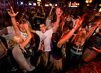 Enthusiastic crowds rock to the music at the Buckhead Saloon in Charlotte, NC. Photos taken with permission of bar management.