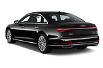Car pictures of rear three quarter view of 2019 Audi A8-L - 4 Door Sedan Angular Rear
