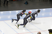 SPEEDSKATING: 22-11-2019 Tomaszów Mazowiecki (POL), ISU World Cup Arena Lodowa, Team Sprint Ladies (USA), ©photo Martin de Jong