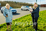 Enjoying a chat and a stroll in the Tralee Bay Wetlands on Thursday, l to r: Miriam McGillicuddy and Kate Campbell.