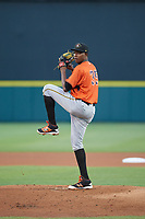 Bradenton Marauders pitcher Pedro Vasquez (35) during the Florida State League All-Star Game on June 17, 2017 at Joker Marchant Stadium in Lakeland, Florida.  FSL North All-Stars defeated the FSL South All-Stars  5-2.  (Mike Janes/Four Seam Images)