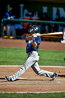 Caleb Whalen (28) of the Helena Brewers at bat against the Ogden Raptors in Pioneer League action at Lindquist Field on July 16, 2016 in Ogden, Utah. Ogden defeated Helena 5-4. (Stephen Smith/Four Seam Images)