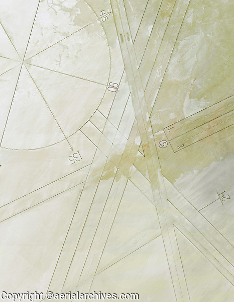 aerial photo map of the compass rose and runways at Edwards Air Force Base, Kern County, California