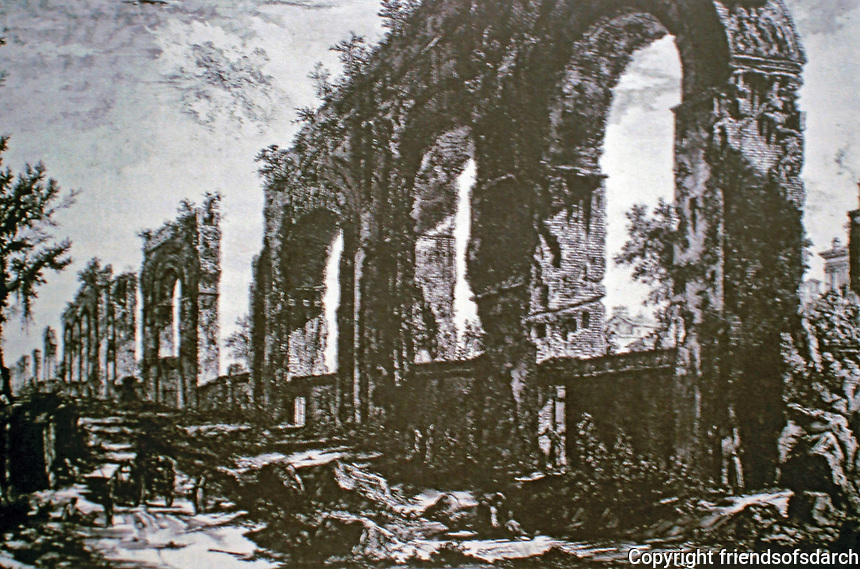 """Giovanni Battista (also Giambattista) Piranesi was an Italian artist famous for his etchings of Rome and of fictitious and atmospheric """"prisons"""""""