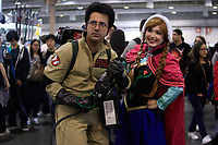 SAO PAULO, SP - 08.07.2017 - ANIME-FRIENDS - Movimentação do público geek vestidos com cosplays durante o maior evento de cultura pop japonesa no Brasil o Anime Friends no Expo Transamérica, zona sul de São Paulo, neste sábado, 08.<br /> <br /> <br /> (foto: Fabricio Bomjardim / Brazil Photo Press)