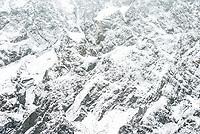 Close up of fresh snow on Mt. Blackburn, Aoraki Mount Cook National Park, UNESCO World Heritage Area, Mackenzie Country, New Zealand, NZ