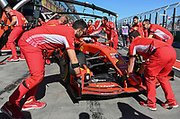 March 15, 2019: Sebastian Vettel (DEU) #5 from the Scuderia Ferrari team during practice session two at the 2019 Australian Formula One Grand Prix at Albert Park, Melbourne, Australia. Photo Sydney Low
