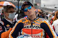29th August 2021; Silverstone Circuit, Silverstone, Northamptonshire, England; MotoGP British Grand Prix, Race Day; Repsol Honda Team rider Pol Espargaro on his Honda RC213V on the grid