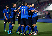 Ciro Immobile of Italy celebrates with team mates after scoring a goal <br /> Uefa European friendly football match between Italy and Czech Republic at stadio Renato Dall'Ara in Bologna (Italy), June, 4th, 2021. Photo Image Sport / Insidefoto