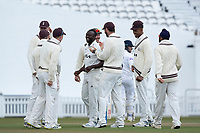 All smiles as Kemar Roach celebrates his fourth wicket during Surrey CCC vs Hampshire CCC, LV Insurance County Championship Group 2 Cricket at the Kia Oval on 1st May 2021