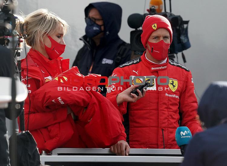 10.10.2020, Nürburgring, Nürburg, Formula 1 Aramco Grosser Preis der Eifel 2020<br /> , im Bild<br />Sebastian Vettel (GER#5), Scuderia Ferrari im Fernsehinterview<br /> <br /> Foto © nordphoto / Bratic