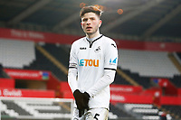 Sunday 18 March 2018<br /> Pictured:  Cian Harries of Swansea City<br /> Re: Swansea City v Manchester United U23s in the Premier League 2 at The Liberty Stadium on March 18, 2018 in Swansea, Wales.