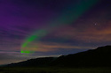 Iceland. 02.02.2017. The Northern Lights (Aurora Borealis) above the countryside, outside Reykjavik. Photograph © Jane Hobson.