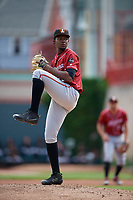 Altoona Curve pitcher Pedro Vasquez (26) during an Eastern League game against the Erie SeaWolves and on June 4, 2019 at UPMC Park in Erie, Pennsylvania.  Altoona defeated Erie 3-0.  (Mike Janes/Four Seam Images)