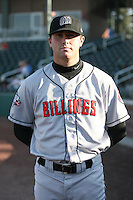 August 11, 2009: Blair Carson of the Billings Mustangs.The Mustangs are the Pioneer League affiliate for the Cincinnati Reds. Photo by: Chris Proctor/Four Seam Images
