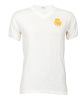 BNPS.co.uk (01202 558833)<br /> Pic: Julien'sAuctions/BNPS<br /> <br /> Pictured: Alfredo Di Stefano Real Madrid White Team Jersey.<br /> <br /> An epic collection of medals, trophies, shirts and personal items relating to footballing legend Alfredo Di Stefano is being sold by his family for over £1m.<br /> <br /> Many of the awards won by the great goalscorer have, until recently, been on display at the Real Madrid Museum, the club where he played for most of his career.<br /> <br /> The Argentine-born striker is regarded as one of the best players of all-time and is often compared to Cristiano Ronaldo.<br /> <br /> During Di Stafano's time with Real Madrid in the 1950s and '60s, the Spanish giants dominated European football, largely due to his goals and assists.