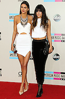 LOS ANGELES, CA - NOVEMBER 24: Kendall Jenner, Kylie Jenner arriving at the 2013 American Music Awards held at Nokia Theatre L.A. Live on November 24, 2013 in Los Angeles, California. (Photo by Celebrity Monitor)