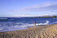 EDITORIAL ONLY. Fishing at State Beach Park, North Kona