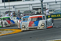 22-25 January, 2009, Daytona Beach, Florida USA.The fight is on in the closing laps..©F.Peirce Williams 2009.F.Peirce Williams.photography