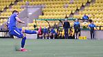 16.08.2020 Livingston v Rangers: Borna Barisic free kick is saved by keeper Maksymilian Stryjek