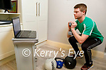 Michael O'Brien, fitness instructor from the Kerry Sports Academy doing an on line MetConworkout  from home, as the Kerry Sports Academy are holding all of their fitness classes on line due to covid.