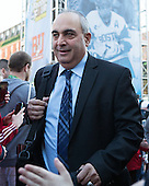 Mike Geragosian (BU - Assistant Coach) - The teams walked the red carpet through the Fan Fest outside TD Garden prior to the Frozen Four final on Saturday, April 11, 2015, in Boston, Massachusetts.