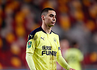 22nd December 2020; Brentford Community Stadium, London, England; English Football League Cup Football, Carabao Cup, Brentford FC versus Newcastle United; Miguel Almiron of Newcastle United