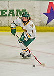 13 February 2015: University of Vermont Catamount Defender Katherine Pate, a Freshman from Saco, Maine, in second period action against the University of New Hampshire Wildcats at Gutterson Fieldhouse in Burlington, Vermont. The Lady Catamounts fell to the visiting Wildcats 4-2 in the first game of their weekend Hockey East series. Mandatory Credit: Ed Wolfstein Photo *** RAW (NEF) Image File Available ***