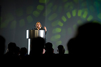Leader of the Green Party of Canada Elizabeth May talks at the Federation of Canadian Municipalities (FCM) congress in Quebec city Saturday May 31, 2008.<br /> <br /> PHOTO :  Francis Vachon - Agence Quebec Presse