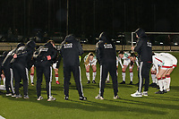 OHL players pictured at the huddle at the start of a female soccer game between Oud Heverlee Leuven and RSC Anderlecht on the 12 th matchday of the 2020 - 2021 season of Belgian Womens Super League , sunday 31 st of January 2021  in Heverlee , Belgium . PHOTO SPORTPIX.BE | SPP | SEVIL OKTEM