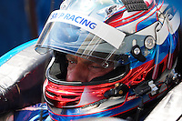 Viktor Shaitar of SMP Racing driver of (37) Oreca 03R - Nissan sits in the pit road during FIA World Endurance Challenge, Thursday, September 18, 2014 in Austin, Tex. (Gary Faulkenberry/TFV Media via AP Images)
