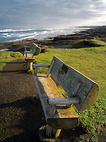 Benches at Smelt Sands State Park, Oregon
