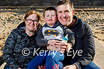 Enjoying a stroll in Ballybunion on Sunday, l to r: Joanne, Michael and Rory Dennehy.