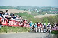 peloton up the very steep Gulperberg (max 19%)<br /> <br /> Amstel Gold Race 2014