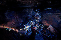 Aboriginal Burial Cave deep in Arnhem Land, Northern Territory, Australia