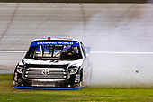 NASCAR Camping World Truck Series<br /> Las Vegas 350<br /> Las Vegas Motor Speedway, Las Vegas, NV USA<br /> Saturday 30 September 2017<br /> Ben Rhodes, Safelite Auto Glass Toyota Tundra celebrates<br /> World Copyright: Barry Cantrell<br /> LAT Images