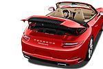 Car Stock 2017 Porsche 911 Carrera 2 Door Convertible Engine  high angle detail view