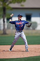 Minnesota Twins Andrew Bechtold (7) during a Minor League Spring Training game against the Tampa Bay Rays on March 15, 2018 at CenturyLink Sports Complex in Fort Myers, Florida.  (Mike Janes/Four Seam Images)