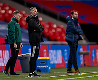 8th Occtober 2020, Wembley Stadium, London, England;  Wales head coach Ryan Giggs and Englands head coach Gareth Southgate during a friendly match between England and Wales in London
