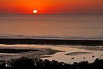sunset over Morro Bay, California