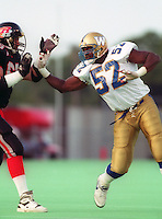 Mike Gray Winnipeg Blue Bombers 1993. Photo F. Scott Grant