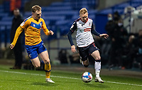 Bolton Wanderers' Ali Crawford (right) breaks<br /> <br /> Photographer Andrew Kearns/CameraSport<br /> <br /> The EFL Sky Bet League Two - Bolton Wanderers v Mansfield Town - Tuesday 3rd November 2020 - University of Bolton Stadium - Bolton<br /> <br /> World Copyright © 2020 CameraSport. All rights reserved. 43 Linden Ave. Countesthorpe. Leicester. England. LE8 5PG - Tel: +44 (0) 116 277 4147 - admin@camerasport.com - www.camerasport.com